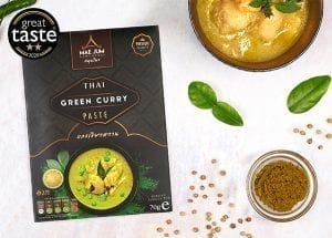 Great taste award winning thai green curry paste - which is hotter?