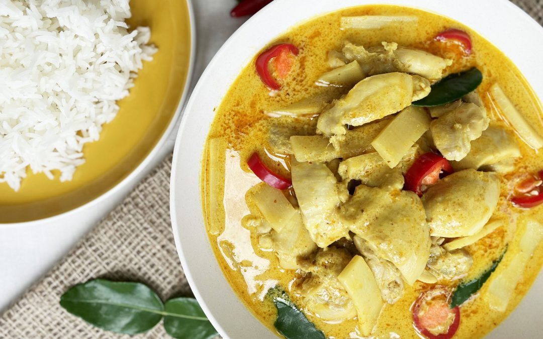 Chicken Thai Yellow Curry with Bamboo
