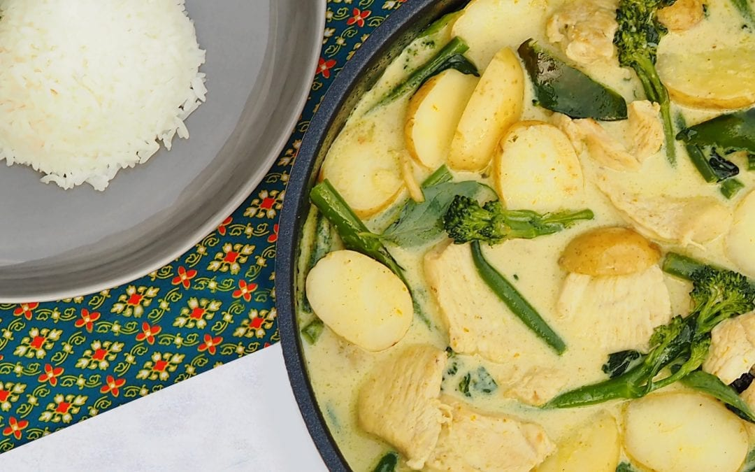 Chicken Thai Green Curry with New Potatoes