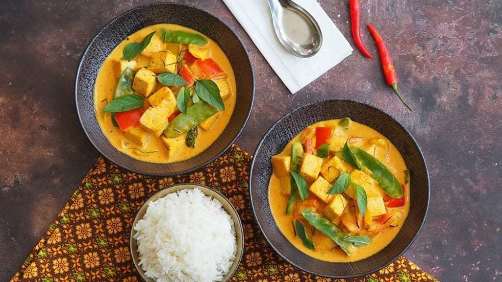 Vegan thai panang curry, veganuary recipe
