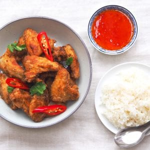 Mae Jum Coriander and garlic chicken wings recipe