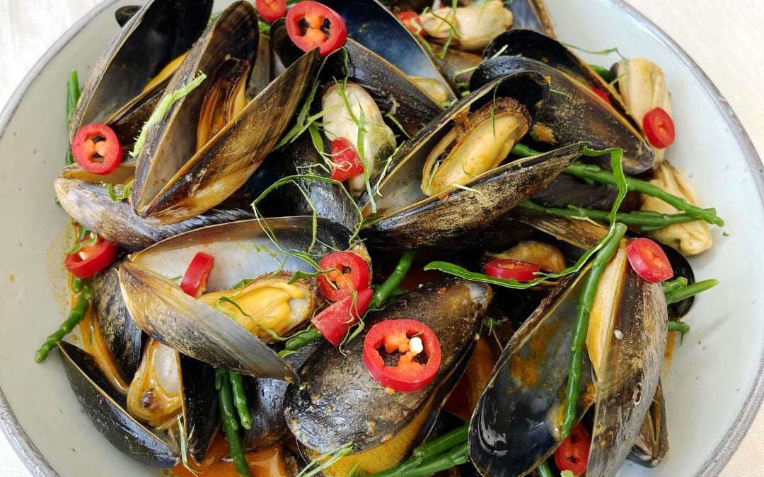 Mussels in Thai Panang Sauce